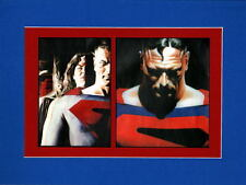 KINGDOM COME SUPERMAN & JUSTICE LEAGUE PRINT PROFESSIONALLY MATTED Alex Ross art