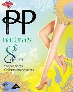 Pretty Polly Naturals 8 Denier Shaper Tights Barely There SM/SP