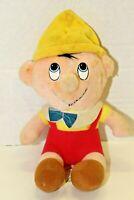 Vintage 1985 Walt Disney Animated Film Classic Pinocchio Stuffed Plush Toy Boy