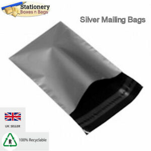 """100 SILVER A4 9"""" x 13"""" Mailing Mail Postal Parcel Packaging Bags 229x324mm"""