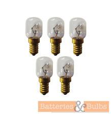 25w SES Small Screw Oven Bulb Lamp Light 300° Degree Crompton E14 240v x5