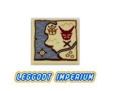 LEGO Decorated Tile - Ninjago Treasure Map - FREE POST