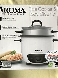 Aroma ARC-747-1NG Rice Cooker Food Steamer * 14 Cup * White
