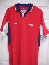Costa Rica World Cup Soccer Men Red Short Sleeve Sewn Polo Shirt L Kopa