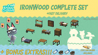 COMPLETE Ironwood SET & DIY Set BONUS MATERIALS: Animal Crossings New Horizons