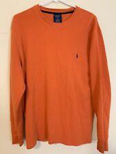 Polo Ralph Lauren Sleepwear Mens Orange Long Sleeve Cotton Shirt Size Large