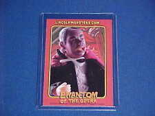 "PHANTOM OPERA VINTAGE LINCOLN MONSTER HORROR 8"" TOY FIGURE PROMO TRADING CARD"