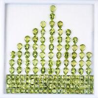 168 Pcs Natural Peridot 4mm-7mm Finest Green Sparkling Loose Mix Gemstones