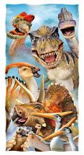 Dinosaurs Selfie Cotton Beach Towel