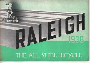 Raleigh Bicycle Range 1938 Original 32 page Cycling Sales Brochure 28 models