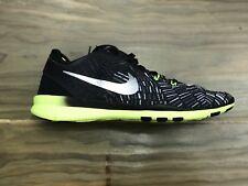 d489eb774b3c Nike Womens Free 5.0 TR Fit Sneakers Black Metallic Volt 704695-017 Size 6.5