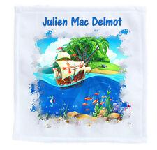 serviette enfant pour école - invité bateau personnalise nom prénom réf 25