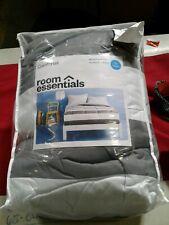Room Essentials- Gray/Rugby Stripe Full/Queen Comforter #108