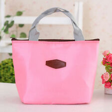 Portable Large Thermal Insulated Fabrics Lunch Box Bag Bento Cooler Picnic Tote