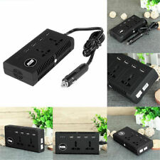 1 pic 200W DC12V to AC 220V Portable Car Power Inverter Charger Converter 4 USB