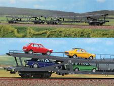 ACME 55197 H0 Set 2 carri trasporto auto FS tipo DDm, con carico di auto, ep IV