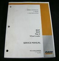 CASE 821F 921F Tier 2 Wheel Loader Service Shop Repair Manual Book Catalog OEM