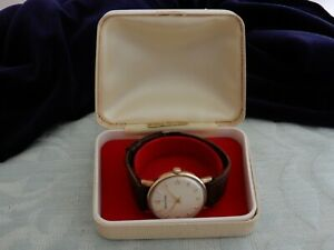 """Original 9ct Gold Smiths """"Hacking"""" Centre Seconds Gent's W/W 1970, from estate"""