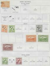 9 New Guinea Air Post & Official Stamps from Quality Old Antique Album 1931-1939
