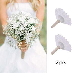 2PCS DIY Bridal Handle Wedding Decorate Flower Decoration Bouquet Foam Holder