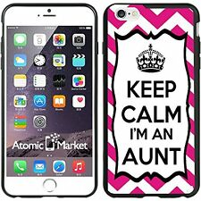 Chevron Pink Keep Calm Im An Aunt For Iphone 6 Plus 5.5 Inch Case Cover