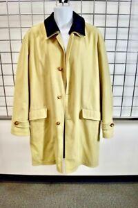 VALSTAR For Bergdorf Goodman Beige Waterproof Wool Lining Men's jacket Size 42