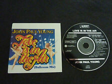 JOHN PAUL YOUNG LOVE IS IN THE AIR RARE AUSSIE BLACK LABEL ALBERTS CD SINGLE!