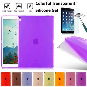 Soft Flexible Silicone Gel Back Case Cover Apple iPad 2 3 4 & iPad Mini 1,2,3