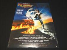RETOUR VERS LE FUTUR  Back to the Future ! affiche cinema cars delorean