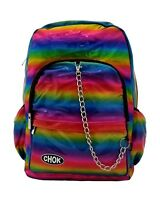 CHOK HOLO PRIDE RAINBOW 3D REFLECTIVE BACKPACK RUCKSACK GAY LGBT Unisex Bag