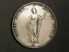 ITALY-LOMBARDY VENETIA 1848M 5 Lire Silver Crown VF