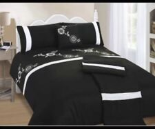 Bali Black & White, 5 Piece Bed In A Bag Duvet Cover Set, King Size, Free P&P
