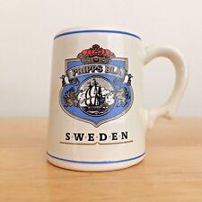 Limited Edition Pripps of Sweden Mini Beer Mug Tankard Franklin Porcelain ~ 1981