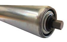 """Medium/Heavy Duty Precision Conveyor Roller 50dia (2"""") Spring Loaded 11Hex Axle"""