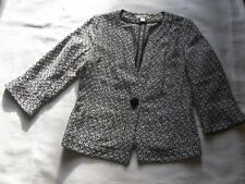WOMENS COLDWATER CREEK JACKET 3/4 SLEEVE BLACK / WHITE SIZE 8