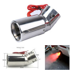 Universal Red LED Flame Spray Light Tail Throat Auto Car Exhaust Muffler End Tip