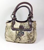 Debenhams Collection Snake Print Pu Small Handbag 26cm X 15cm