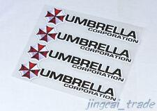4 stück Umbrella Corporation Logo Auto SUV Sticker Aufkleber Abzeichen Emblem