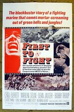 """""""FIRST TO FIGHT"""" a hero, fighting Marine / original movie poster"""