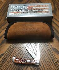 Case xx Wharncliffe Mini Trapper Knife Jigged Chestnut Bone 07210