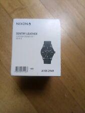 NIXON sentry leather Cinder Cerakote black
