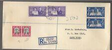 1947 South Africa Royal Visit FDC registered