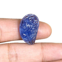 24.13 Cts Natural Tanzanite Magnificent Blue Moghul Carved Certified Gemstone
