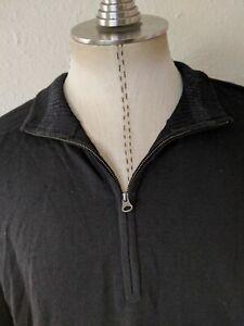 Smartwool Black Sweater quarter-zip Pullover Merino Wool Men's XL EXCELLENT