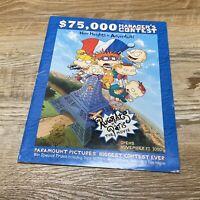 Paramount Rugrats In Paris Movie Promo Biggest Contest Ever Pamphlet