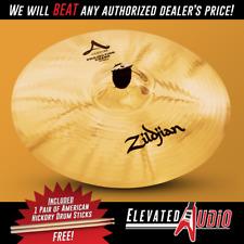 "Zildjian A Custom 19"" Projection Crash Cymbal + FREE American Hickory Sticks!"
