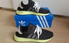 Adidas Deerupt Runner Black/Solar Yellow Men's Slip On Trainers Shoes UK 9-10.5