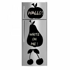 Apple, Pear and Cherries - Chalkboard -  Fridge Kitchen Sticker / Wall Stickers