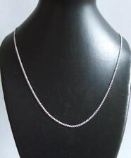925 Sterling Silver Open Curb Chain 16 Inch Choker 1.2 mm Link  Velvet Gift Bag