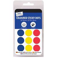 STICKY LABELS Award Kids Self Adhesive Round Coloured Dots Sticker Sheet Circles
